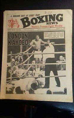 Boxing News Magazine , Cassius Clay V Brian London, Great Cover 1966