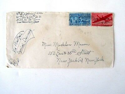 43rd Bomber Group Stationed in Philippines, 1945, Letter Home, Spec Delivery Air