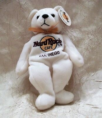 Hard Rock Cafe San Diego California Plush Bear Toy New with Tags