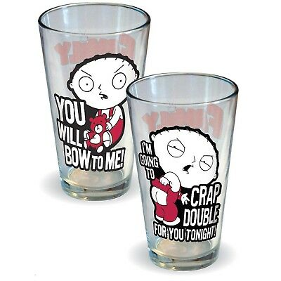 ICUP Family Guy Stewie Attitude Pint Glass (2 Pack) - NEW!