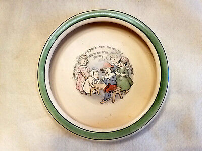 """Vintage Baby Dish-""""TOM HE WAS A PIPER'S SON""""  Nursery Rhyme"""