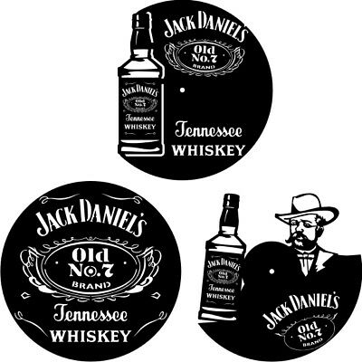 DXF CDR and EPS File For CNC Plasma or Laser Cut - Jack Daniel's Clocks Lot