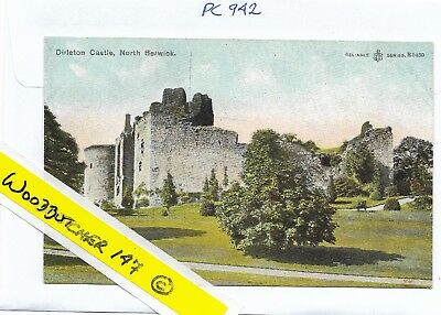 Dirleton Castle, North Berwick RELIABLE SERIES CHROMOTYPED.Unposted.R1430(PC942)