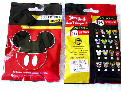 Disney * CHARACTER EARS ICONS * New Sealed * 5-pin Mystery Collectible Pin Pack