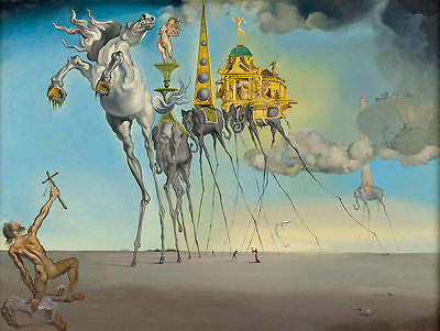 SALVADOR DALI - Temptation of St Anthony - Canvas Art Print - 24x18""