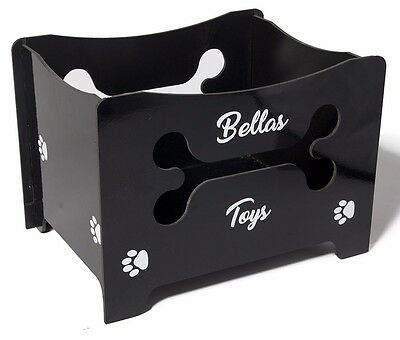 dog toys storage box tidy with bone cut out handle