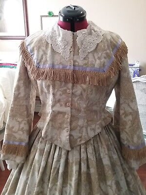 Paisley American Civil War Day Dress
