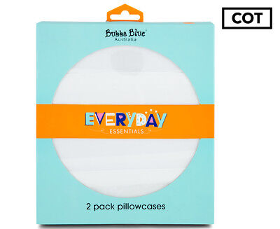 Bubba Blue Baby Pillowcases 2-Pack - White