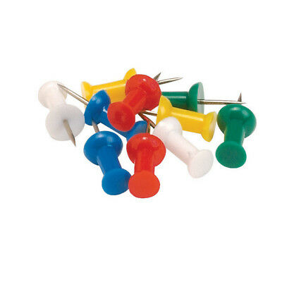 5 Star Office Push Pins Assorted Opaque [Pack 20]