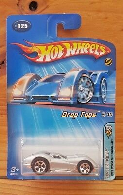Hot Wheels 2005 First Editions Drop Tops 5/10 1963 Corvette Sting Ray #025 A+/a-