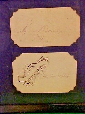 Old Antique Spencerian Calligraphy Penmanship Name Cards Drawing Class Of 1897