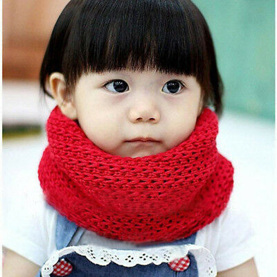 Winter Baby Kids Warmer Scarf Knitted Wool Cap Neck Warmer Protect The Ears Cute