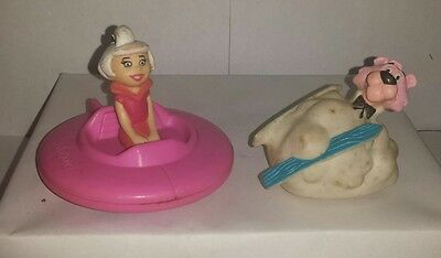 Retro Hanna Barbera Judy Jetson 1988 and Snagglepuss Figure Cake Toppers