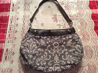 Thirty One Suite Skirt Purse Brown Base Purse With Thirty One Gray & White Skirt