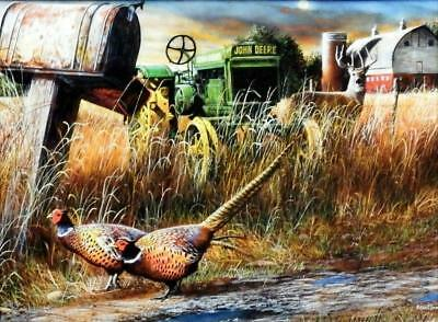 Kevin Daniel Special Delivery Pheasant Tractor art Print 16 x 12