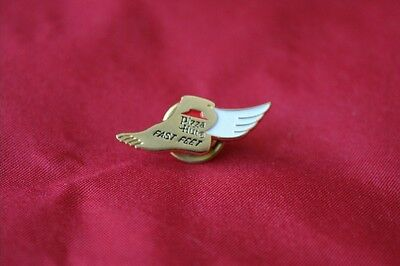 "PIZZA HUT RESTAURANT ""Fast Feet""  Collectible Enamel Lapel or Hat Pin"