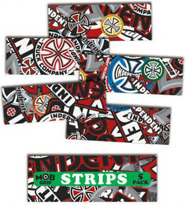 "MOB SKATEBOARD GRIP TAPE SHEET - 9"" x 3.25"" - INDEPENDENT - COLLAGE GRIP STRIPS"