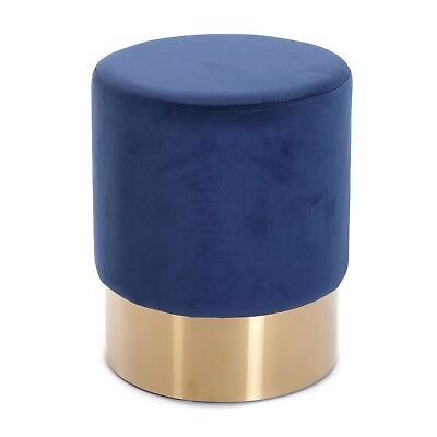 "DEKORATIVER HOCKER ""CHERRY BLAU BRASS"" 