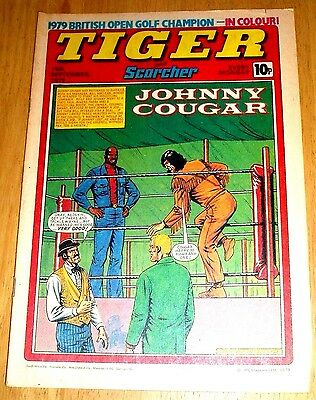 Tiger Comic 1979  With Man City Team Centrefold Poster & Seve Ballesteros Poster