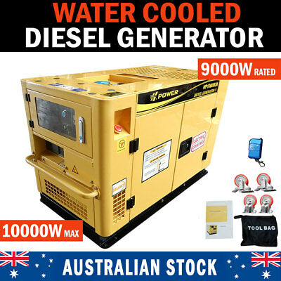 NEW H-POWER 10kVA Max 9kVA Rated Diesel Generator Single Phase Commercial