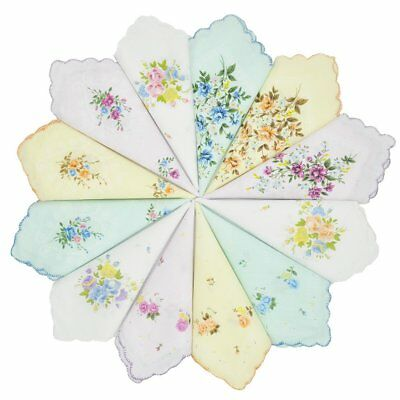 Handkerchief for Girls Hankies Cotton Embroidered Flowers and Beautiful Design