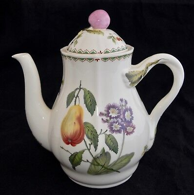 Spode VICTORIA Coffee Pot - Fruit / Botanical Garden - Excellent Condition 1.5L