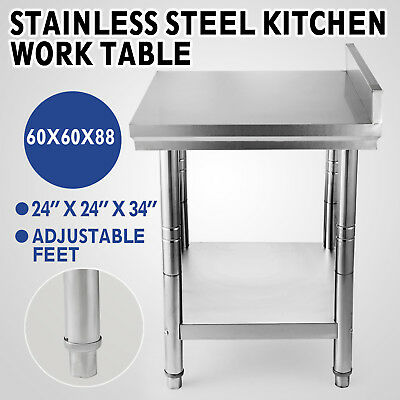 """24"""" x 24"""" Commercial Stainless Steel Work Food Prep Table Kitchen Restaurant"""