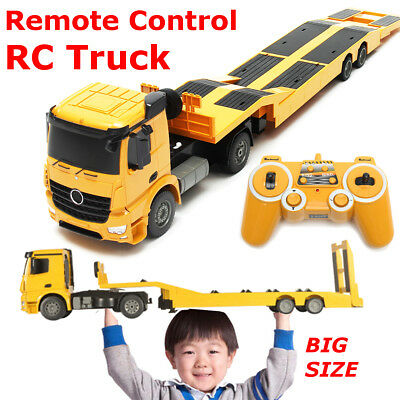 400mAh Remote Control RC Truck Flatbed Semi Trailer Electronics Hobby Kids Toy