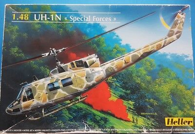 """Heller 1:48 UH-1N """"Spetial Forces"""" Kit No. 80413"""