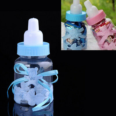 Fillable Bottles for Baby Shower Favors Blue Pink Party Decoration Girl Boy x 12