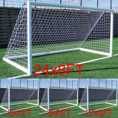 S-XL Football Soccer Goal Post Nets Sports Training Match Replace (Only Net)