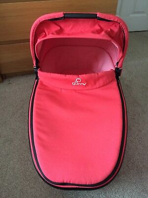 Quinny Foldable Carrycot in Rare Pink Blush for Buzz / Xtra / Moodd