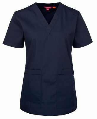 Jb's wear Ladies Scrubs Top V-neck,Side Vents Hospital Essential 4 Lower Pockets