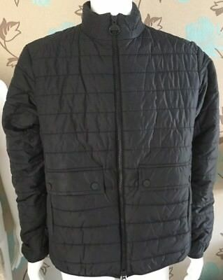 """BARBOUR """"CROSSOVER"""" QUILTED BLACK JACKET SIZE XL  45-46inch chest BNWT"""