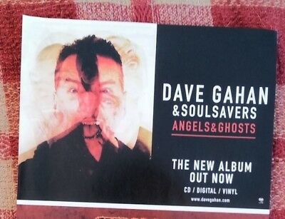 DAVE GAHAN Depeche Mode Angels & Ghosts magazine ADVERT / Poster 8x6 inches