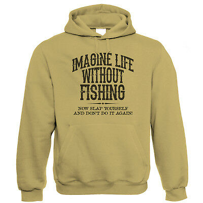 Life Without Fishing Mens Hoodie, Carp Coarse Sea Fly Angler Gift for Him Dad