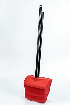 Long Handled Dustpan & Brush Set Strong Metal Handle Dust Pan Broom Sweeper Red
