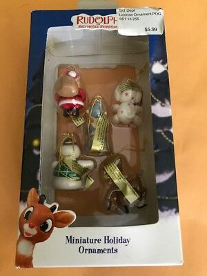 RUDOLPH THE RED NOSED REINDEER Miniature Holiday Ornaments--ENESCO