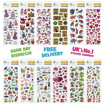 Fun Stickers Children Birthday Party Loot Bag Fillers Kids Decorating Cute Pack
