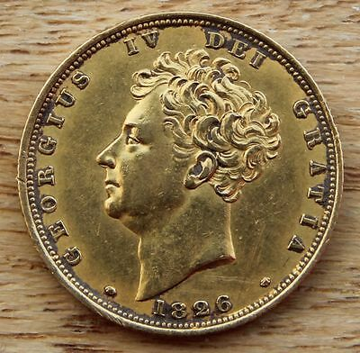 1826 Sovereign George IV (1816-1837) AEF
