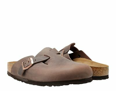 Birkenstock Boston Oiled Leather Habana Unisex Slip-On Clog 0860131-0860133