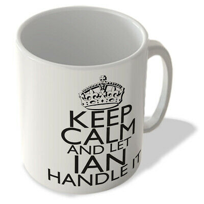 MUG_KCHI_471 Keep Calm and let IAN Handle It (white background) - KEEP CALM Name