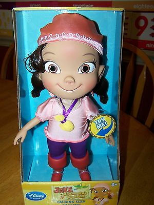 New Disney Store Jake and The Never Land Pirates Talking Izzy Doll 14 Phrases