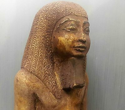 ANCIENT ANTIQUE Egyptian Amenhotep III with head of Horus (300-1500 BC)