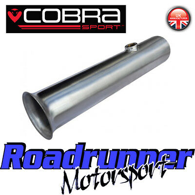 "Cobra Sport Clio 197 De-cat Pipe Exhaust 2.5"" Stainless Cat Replacement RN10"