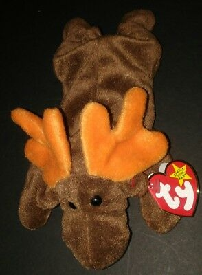 Ty Beanie Babies 1993 Chocolate The Moose 4015 Dob 4-27-93 Great Condition New