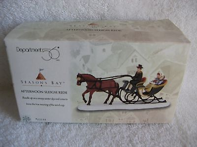 DEPT 56 - Seasons Bay - AFTERNOON SLEIGH RIDE - NEW - #53322