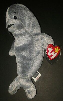 Ty Beanie Babies 1998 Slippery The Seal Dob 98 Great Condition New