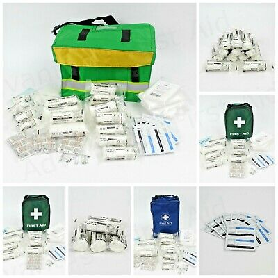 HSE First Aid Kit in Bag or Haversack Dressings & Refills. 1- 50 Person Kits