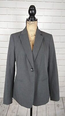 A Pea In The Pod Maternity Womens Blazer Suit Jacket Gray Career Long Sleeve S